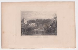 Antique Engraving Print, Part of Bala Lake, Merionethshire, 1845