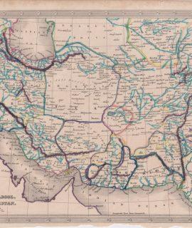 Antique Map, Persia, Cabool, & Baloochistan, 1820 ca.