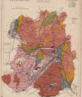 Antique Geological Map, Shropshire, 1907