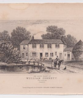 Antique Engraving Print, William Cobbett, Farnham, Surrey, 1845
