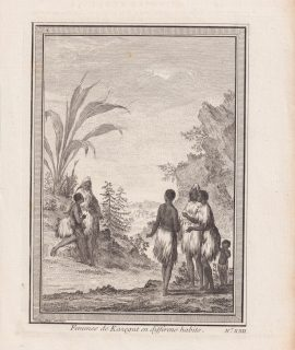 Antique Engraving Print, Femmes de Kazegut en differens habits, 1746