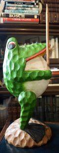 Vintage Handmade Wooden Frog