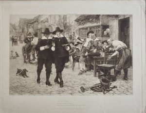 Antique Engraving Print, The 29th of May, It was a glorious day, 1890