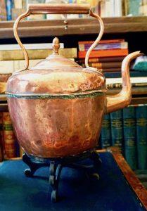 Antique Massive Victorian Copper Kettle by E. Payton LTD Birmingham, 1870 ca.