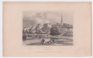 Antique Engraving Print, Ross, Herefordshire, 1845