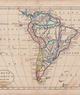 Antique Map, South America from the best Authorities, 1807