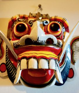 Carved Handmade Wooden Thai Balsa Wood Mask