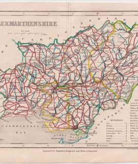 Antique Map, Caermarthenshire, 1840