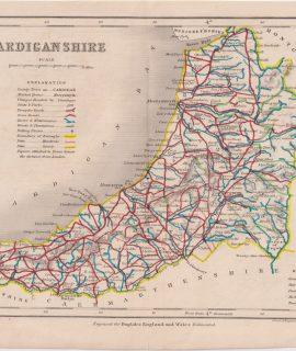Antique Map, Cardiganshire, 1820 ca.