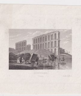 Rare Antique Engraving Print, Carthago, Tunis, 1820 ca.