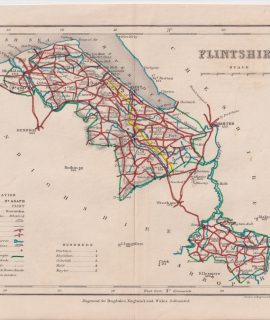 Antique Map, Flintshire, 1845