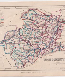 Antique Map, Montgomeryshire, 1840