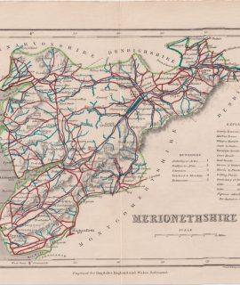 Antique Map, Merionethshire, 1840