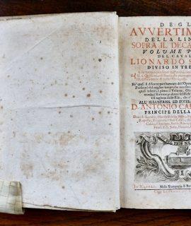 Degli Avvertimenti della lingua sopra il Decamerone, diviso in tre libri... Nella Stamperia di Bernardo-Michele Raillard, 1712