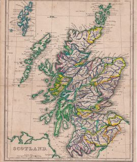 Antique Map, Scotland, 1804 ca.