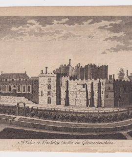 Antique Engraving Print, A view of Barkeley Castle in Gloucestershire, 1776