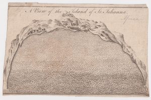 Antique Engraving Print, A View of the Island of St. Johanna, 1747