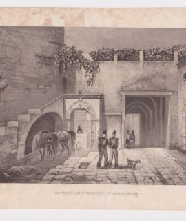 Antique Engraving Print, Gateway and Fountain in Bab El Ouad, 1820