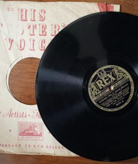 Christmas Time in Merrie England part 1, part 2, Band of H.M Welsh Guards, 78 RPM, 1935.