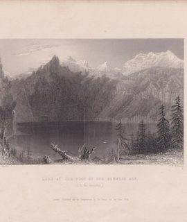 Antique Engraving Print, Lake at the Foot of the Blumlis Alp, 1836