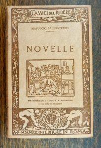 Masuccio Salernitano, Novelle, Formiggini, original rare hard leather cover book, 1929