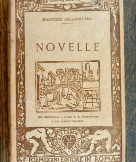 Masuccio Salernitano, Novelle, Formiggini, original rare hard leather cover book, 1929