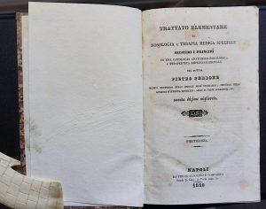 Trattato Elementare di Nosologia e terapia medica speciale... del dottor Pietro Perrone, piretologia, Napoli, Azzolino e Compagno, 1840