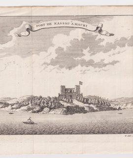 Antique Engraving Print, Fort de Nassau à Mauri, 1747