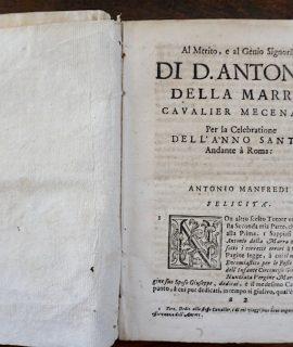 Rare Book, Prediche Quaresimali del Padre Antonio Manfredi della Compagnia di Gesù, Napoli. Stamperia di Giacomo Raillard, 1700