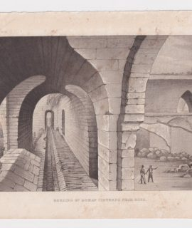 Rare Antique Engraving Print, Remains of Roman Cisterns near Bona, 1810 ca.