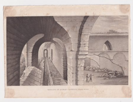 Rare Antique Engraving Print, Remains of Roman Cisterns near Bona, 1810 ca.