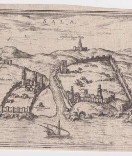"Franz Hogenberg Sala, Map from ""Civitates Orbis Terrarum"" - by F.Hogenberg - 1575"