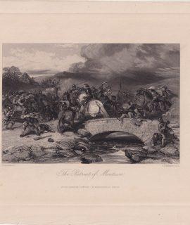 Antique Engraving Print, The Retreat of Montrose, 1840