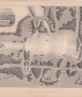 Antique Map, Plan of Virginia Water, 1842