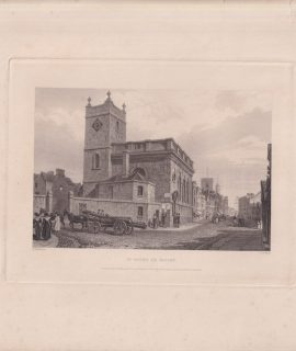 Antique Engraving Print, St, Peter Le Bailey, 1835