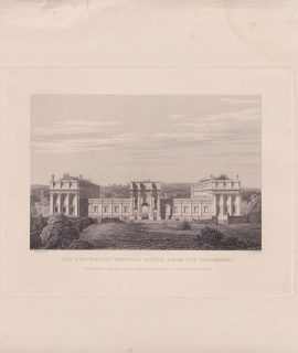 Antique Engraving Print, The University Printing House, from the Infirmary, 1833