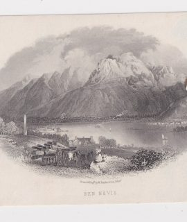 Antique Engraving Print, Ben Nevis, 1860 ca.
