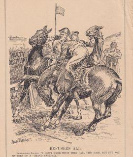 Antique Print, Refuser All, 1880