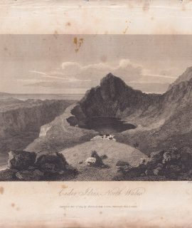 Antique Engraving Print, Caden Idris North Wales, 1809