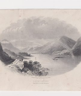 Antique Print, Loch Locky, 1890 ca.