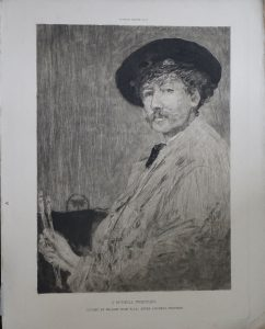 Antique Engraving Print, J.Mc. Neill Whistler, by William Hole, 1890