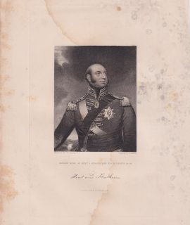 Antique Engraving Print, Edward Duke of Kent..., 1845