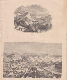 Antique Print, Ceylon, 1880