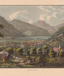 Vintage Print, City of Altdorf, 1890