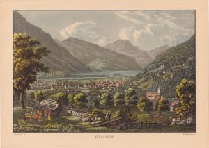 Vintage Print, City of Altdorf, 1890