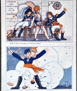 Vintage Print, Le sourire à travers de l'histoire de France, 1920