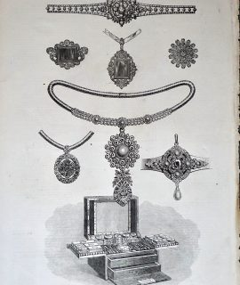Antique Print, Princess Louise's Wedding Gifts, 1871