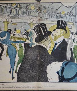 Vintage Print, A Bullier, 1901