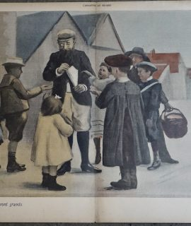 Vintage Print, Petits cadeaux reviendront grands, 1906 ca.
