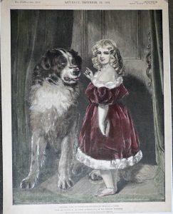 Antique Print, Princess Mary of Cambridge, 1891